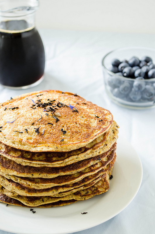Gluten-Free Earl Grey Blueberry Pancakes