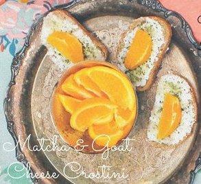 Matcha & Goat Cheese Crostini